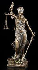 Kleine Justitia Figur mit Waage und Schwert - Veronese Geschenk Anwalt Statue
