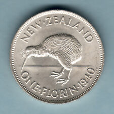 New listing New Zealand. 1940 Florin. Full Lustre. Unc - Rare This Grade