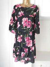 GORGEOUS LINED CHIFFON SMOCK DRESS BY VERY NWT SIZE UK 16 BUST 42""