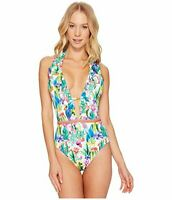 Nanette Lepore Ladies Goddess Cactus One Piece Halter Backless Swimsuit Smalll