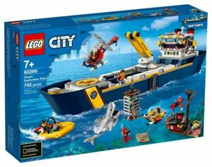 LEGO City: Ocean Exploration Ship (60266) Building Kit 745 Pcs