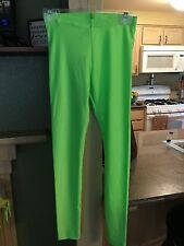 Womens American Apparel Size M USA 34.00-Color Lime Green Leggings NWT