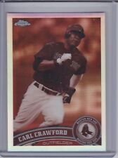 CARL CRAWFORD 2011 Topps Chrome Sepia Refractor #90/99 #3 (D1736)
