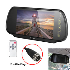 4Pin Plug Van Truck Rear View 7'' Grass Monitor Mirror For Reverse/Front Camera