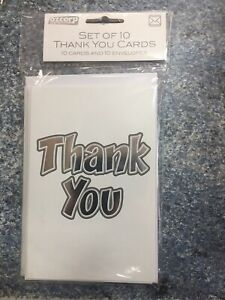 Ozcorp Thank You Cards 145 x 195 - Set Of 10