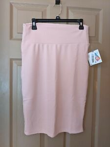 NWT NEW LuLaRoe Light Pink CASSIE Pencil Stretch Skirt Sz Medium
