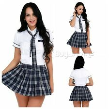 Sz:L Women's School Girl Uniform Cosplay Halloween Lingerie Fancy Dress Costume