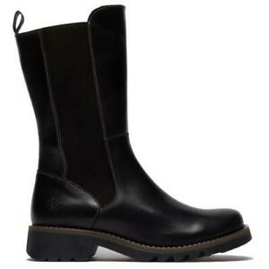 Fly London Relm Womens Ladies Black Leather Zip Up Biker Stlye Boots Size 4-8