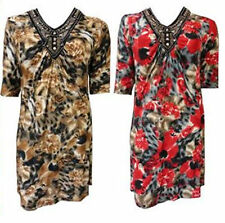 Unbranded 3/4 Sleeve Floral Plus Size Dresses for Women