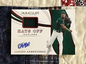 LAZARO ARMENTEROS AUTOGRAPGH & RELIC 2019 PANINI IMMACULATE COLLECTION