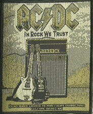 "AC/DC AUFNÄHER / PATCH # 60 ""IN ROCK WE TRUST"""