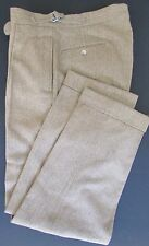 VTG POLO Ralph Lauren Brown Pleated Cuffed Cinched Wool Tweed Pants 33/29.5 MINT
