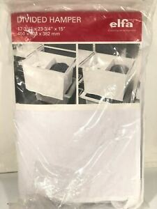 Elfa Divided Hamper Basket Container Store Discontinued