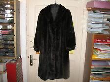 Manteau en vison naturel, fourrure noir ébenne soyeux, trés bon état