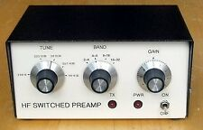 HF Switched Tuneable Preamp 1.8-30MHz. For TX power to 150W. Made in Dorset UK.