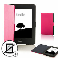 Funda inteligente Rosa Manga Cubierta Amazon Kindle Paperwhite 2015 Pantalla Prot Y Stylus