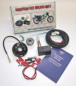 WASSELL MICRO MK 1 ELECTRONIC IGNITION KIT K1F K2F MAG BSA B25 B50 A50 A65 ETC