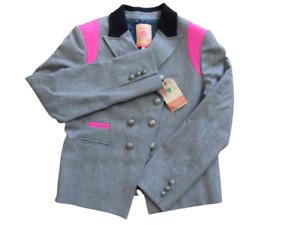 Ladies VILAGALLO Madrid Jacket Grey/Pink NWT Sz UK10 (Hospiscare)