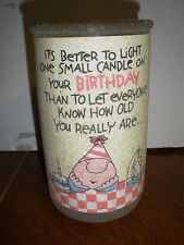 "NEW Guild House Candle frosted Ziggy Vintage 5"" tall"
