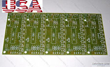 x5 PCB Only for DIY LM3915 Audio LED VU METER (Sound 10-Level Indicator) - USA