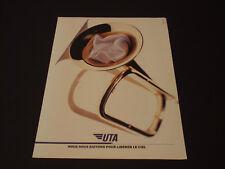 UTA  Années 1985's - 1990's  Advertising Vintage AD Pub Paper 1980 - 1990