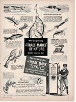 1949 ORIGINAL VINTAGE ETHYL GASOLINE MAGAZINE AD