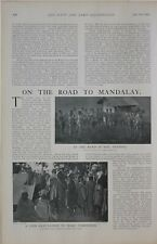 1901 Imprimé Route vers Mandalay Menton Deputation Sauvage Upper Burma Tribesmen