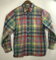 Foxcrof Women's size 12 Multicolor Striped Long Sleeve Wrinkle Free Shirt