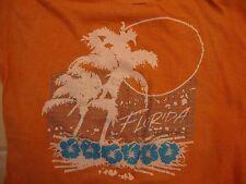 Vintage Florida Tourist Souvenir Paper Thin Orange T Shirt Size M
