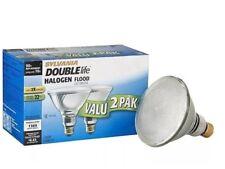 2 PACK SYLVANIA 90 Watt Dimmable Par38 Halogen Flood Light Bulbs Uses 70 Watts