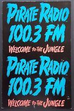 PIRATE RADIO 100.3 FM KQLZ Vintage OG Boxing Style PROMO Poster LA GUNS N ROSES