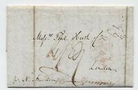 1839 New York to London transatlantic stampless Ball Line [H.470]