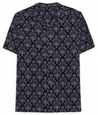 New 2020 Disney Parks Haunted Mansion Purple Wallpaper Camp Button Shirt Medium