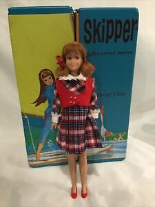 Vintage Skipper Doll 1963 With Case Clothes Accessories Very Nice