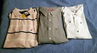 3 New XXL Shirts 2 Nautica short sleeve and 1 Izod long sleeve