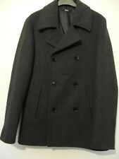 """FIND Men's XS (38"""") WOOL MIX Jacket Trench Coat Double Breasted Fully Lined New"""