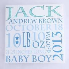 Personalised Baby Boy Canvas Print, Birth/Christening Gift, Unique Keepsake