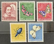 Série PRO JUVENTUTE 1956 : MNH** , Mi 632-636