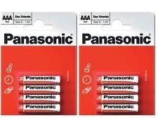 8 X Panasonic AAA Battery Batteries New Zinc Carbon 1.5V Exp +2Years