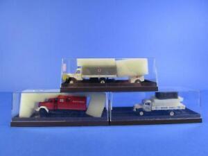 BREKINA X3 BERLINER KINDL, RED CROSS TRUCK & WERKSTATTWAGEN, 1/87, MIB!