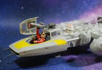 VINTAGE STAR WARS COMPLETE Y-WING FIGHTER KENNER + ACTION FIGURES WORKS!