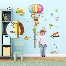 Decowall Air Balloon Height Chart Removable Wall Stickers Decal DM-1606P1506C