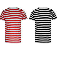 Mens Short Sleeve Striped T-Shirt Top & Tees