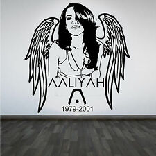 Hip Hop Legend Aaliyah R&B Star DIY Wall Art Sticker/Decal With Quote