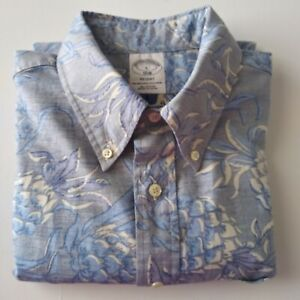 NWOT Brooks Brothers Shirt Short Sleeve Button Down Regent Cotton Pineapple L