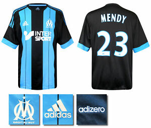 2015 2016 MARSEILLE ADIDAS AWAY PLAYER ISSUE SHIRT MENDY 23 = SIZE 10 (LARGE)