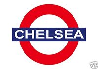 RETRO METAL PLAQUE CHELSEA TUBE/Football SIGN sign/ad