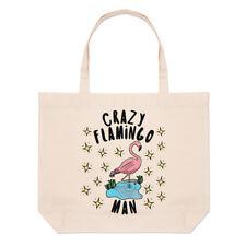 fou Flamingo homme étoiles Grand Plage SAC FOURRE-TOUT - Drôle Animal Rose