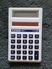 VINTAGE Casio HS-7 AD ALTA POTENZA SOLAR Calcolatrice elettronica 8 cifre da collezione