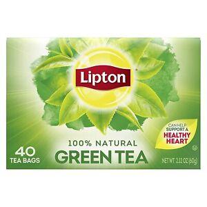 Lipton Tea 100% Natural Green Tea - 40 Tea Bags